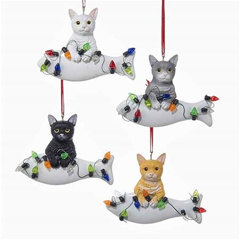 cat christmas ornaments furrypartners