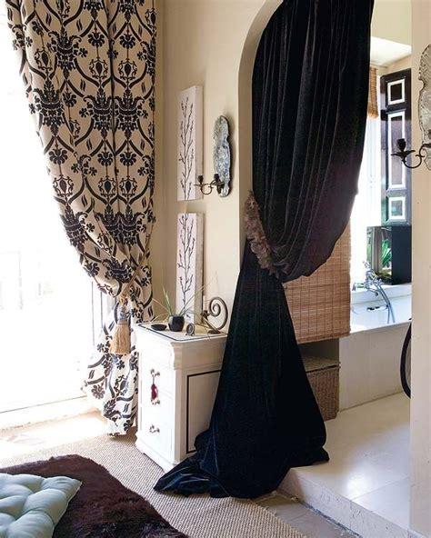 Gamis Boutique 57 black white curtains panles interior design eclectic