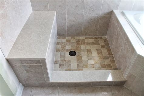 tiled shower with bench custom built shower bench basking ridge nj 07920