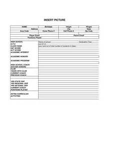 Player Template by Best Photos Of Soccer Player Profile Sheet Soccer Player