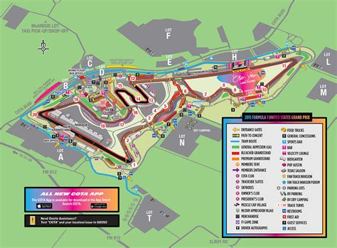 circuit of the americas map welcome to circuit of the americas for the 2015 formula 1 united states grand prix cota