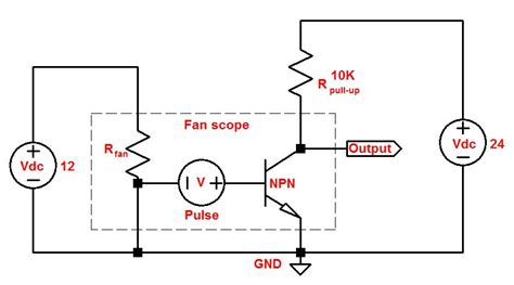 pull up resistor value 12v pullup 12 vdc intel fan tachometer output to 24 vdc plc input electrical engineering stack