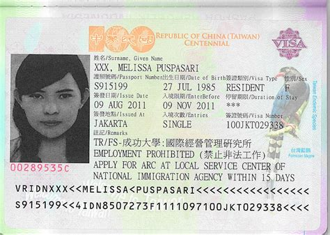 cara membuat visa taiwan contoh formulir wisata fulham seo