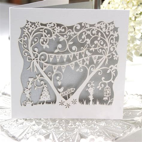25th Wedding Anniversary Card Box by Silver Wedding Anniversary Laser Cut Card By The