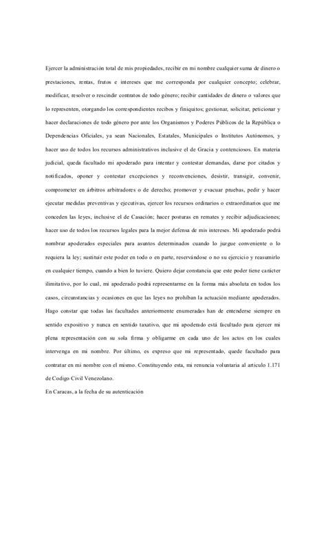 formato de poder notarial poder notarial formato poder notarial formato