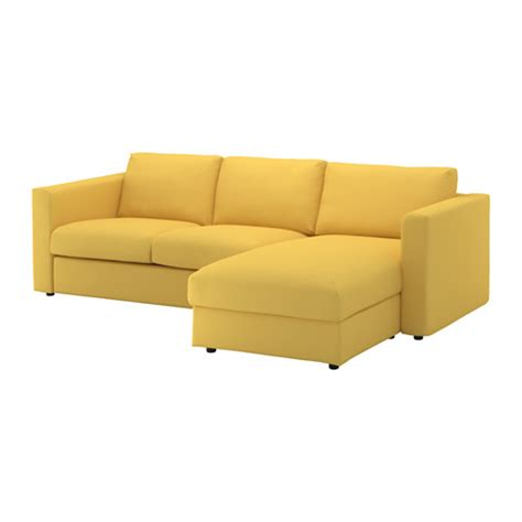 yellow chaise vimle sofa with chaise orrsta golden yellow ikea