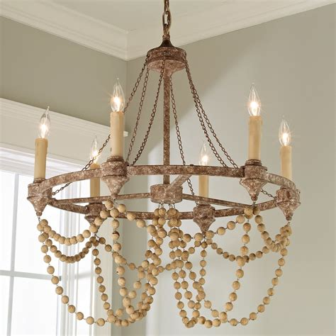 wood bead ceiling light rustic refined wood bead chandelier shades of light