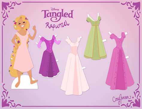 How To Make Paper Dolls At Home - rapunzel activities paper dolls author