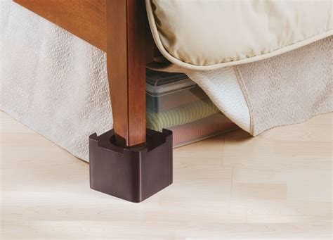 Bed Raisers by Stacking Wood Bed Risers Espresso In Bed Risers