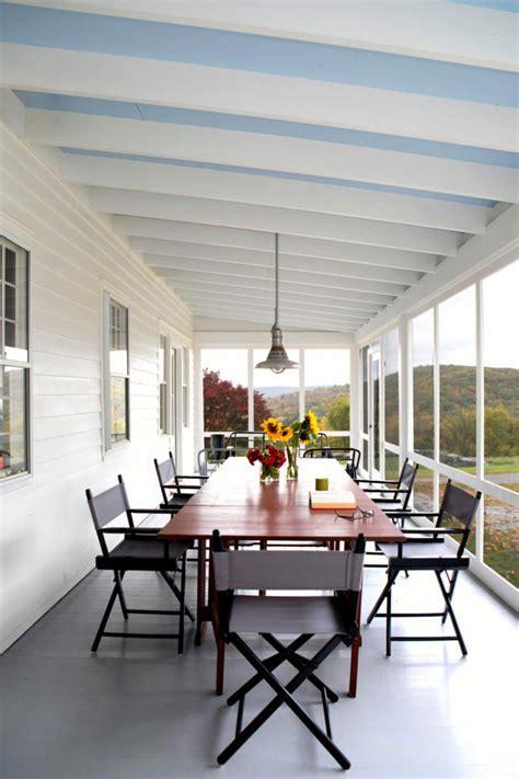 Front Porch Decorating Ideas Large Veranda In White Interior Design Ideas Ofdesign