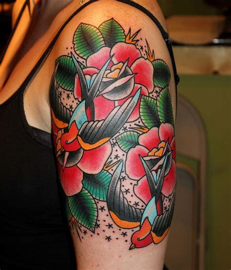 rose and swallow tattoo meaning swallows and roses myke chambers swallows