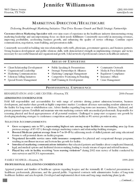 Resume Template Key Competencies Cover Letter Admissions Director