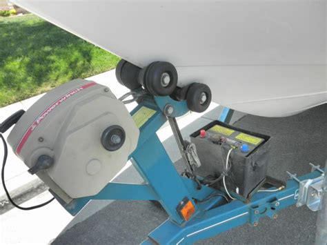 boat trailer electric winch mount www ifourwinns view topic electric winch and