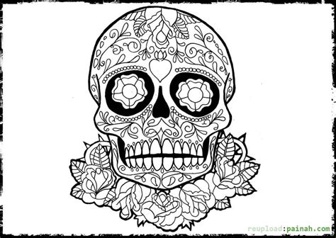 day of the dead skeletons coloring pages day of the dead skulls coloring pages az coloring pages