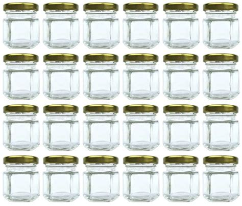 Perlengkapan Jahit Set Mini 24 Pcs original merchants 1 5 oz hexagon jars 24 set mini glass favor jars for spices honey