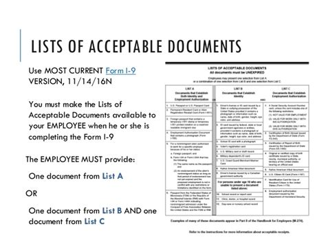 I 9 Acceptable Documents
