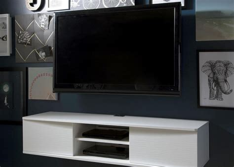 Living Room White Tv Stand White Floating Tv Stand With Wooden Floating Drawers