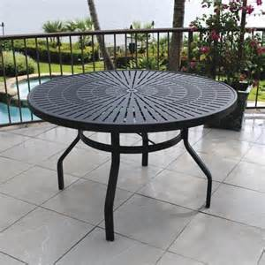 backyard creations patio furniture backyard creations 174 sanibel 48 quot dining table at menards 174