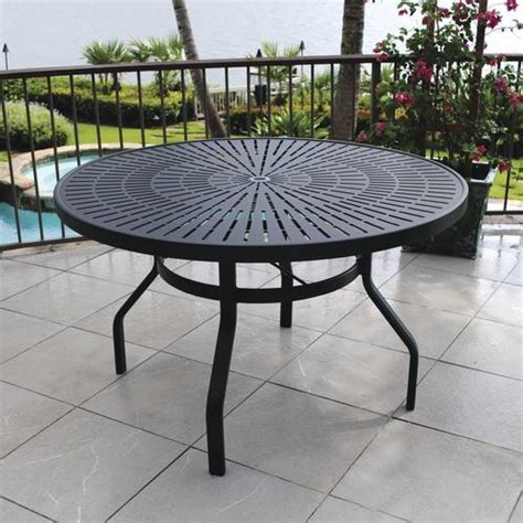 Menards Patio Table Backyard Creations 174 Sanibel 48 Quot Dining Table At Menards 174