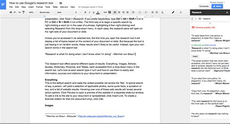 format footnotes google docs how google docs research tool removes drudgery from