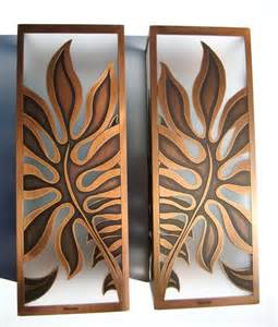 Decorative Wall Sconces Monstera Sconces Tropical Wall Sconces Hawaii By Paradise Lights