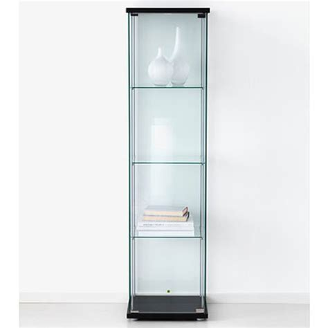 ikea curio cabinet ikea detolf glass curio display cabinet black lockable