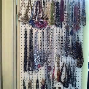 closet door peg board necklace organizer