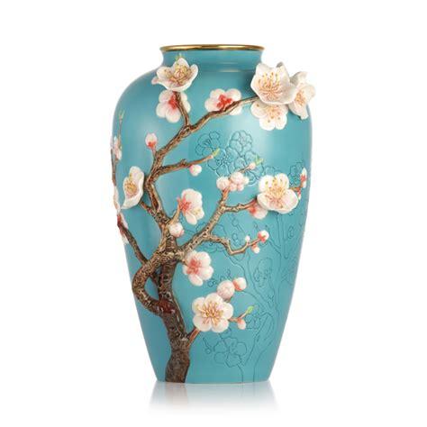 Franz Porcelain Vases by Franz Porcelain Morning Almond Blossom Vase