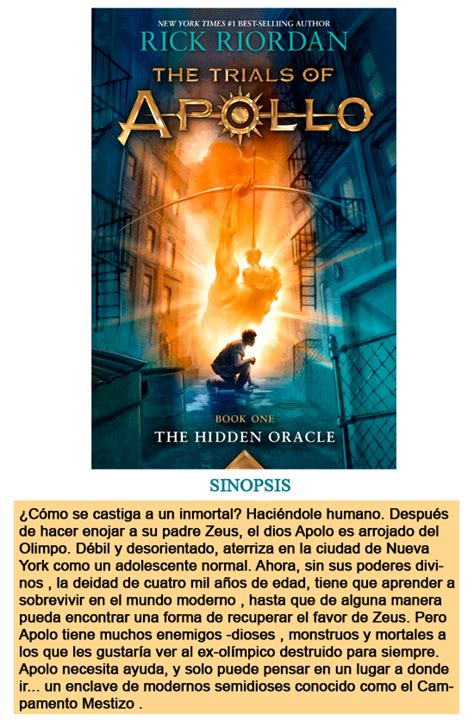 libro apollo 8 tributo entre libros semanarickriordan 161 hoy sale quot the hidden oracle quot por rick riordan