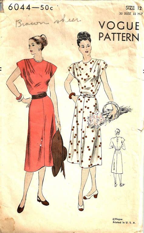 vogue pattern history 1030 best images about rewind 1940s patterns on pinterest