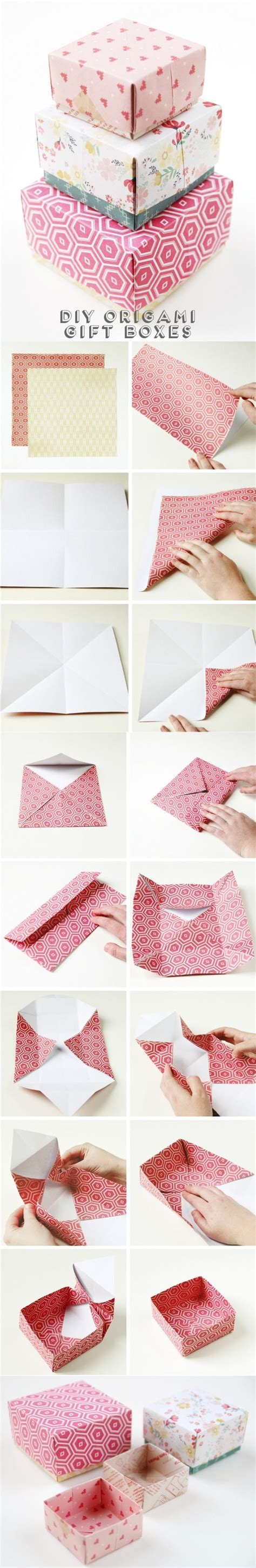Origami Wrapping Paper Gift Box - 25 unique paper boxes ideas on diy box