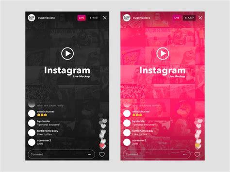 Instagram Live Ui Mockup Mockuplove Instagram Mockup Template