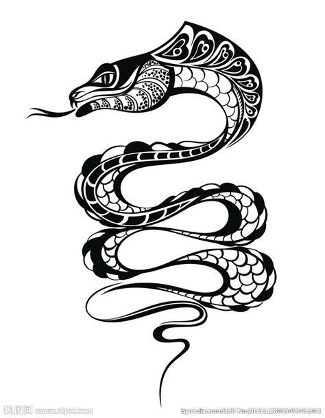 黑白剪影 矢量素材 图案 蛇设计图 野生动物 生物世界 设计图库 昵图网nipic com