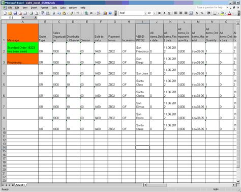 Sle Of Excel Spreadsheet With Data by Sle Excel Sheet With Sales Data Spreadsheets