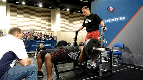 highest bench press in the nfl nfl combine bench press record myideasbedroom com