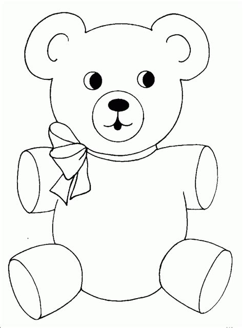 Bear Coloring Pages Preschool And Kindergarten Free Coloring Pages For Preschoolers