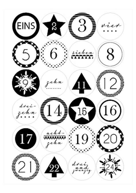 Adventskalender Sticker Ausdrucken by Adventskalenderzahlen Zum Ausdrucken