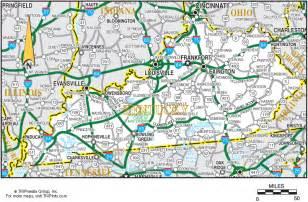 kentucky directions map kentucky map