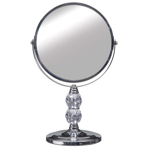 crystal bathroom mirror crystal two sided swivel mirror bathroom accessories b m
