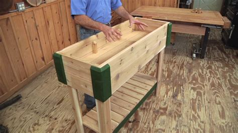 Standing Planter Box by 6 Woodworking Projects For The Garden Woodworkers Guild