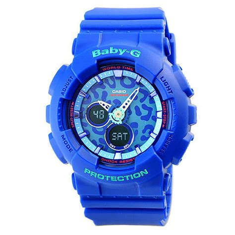 Baby G Casio Dg 120 Blue casio baby g ba 120lp 2a leopard design analog digital
