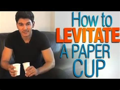 How To Make Paper Levitate - how to levitate a paper cup easy but looks decieving