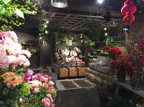 aoyama flower market tea house florist design interer