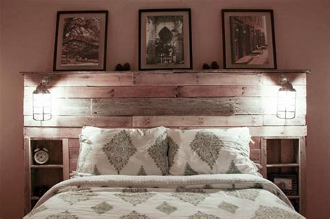 Pallet Headboard Designs by Pallet Bed Headboard With Shelves Pallet Ideas Recycled