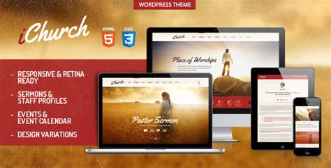 25 best responsive church wordpress themes tutorial zone