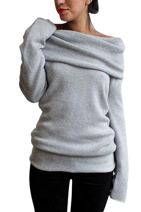 shoulder knit heathered turtleneck the shoulder knit sweater azbro
