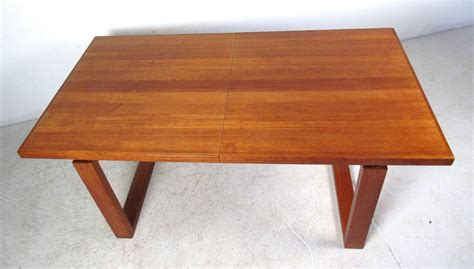unique teak sled leg dining table for sale at 1stdibs