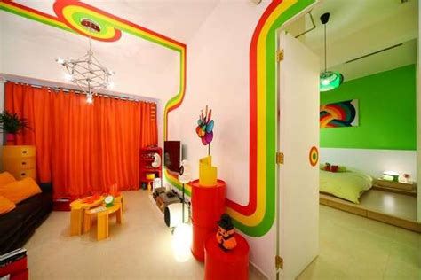 Rainbow Rooms by Radiant Striped Abodes Rainbow Room Design Color Bedroom