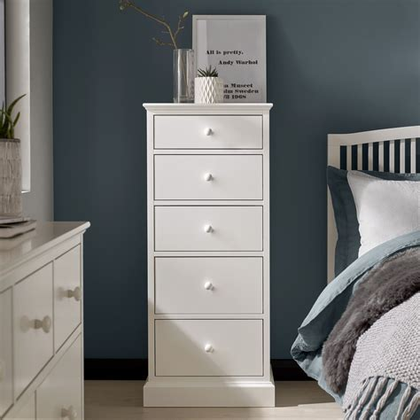 ashby white  drawer tall chest upstairs downstairs