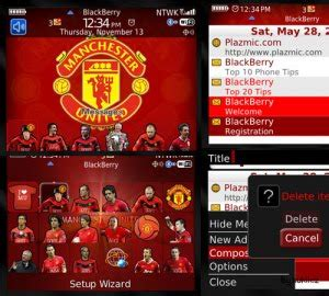 themes blackberry manchester united manchester united theme for blackberry 8520 free all themes